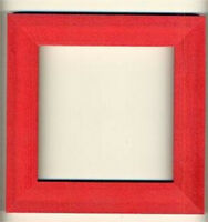 Mill Hill Holiday Red Wooden Hand Painted Frame 6 X 6