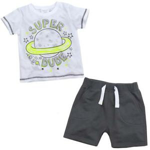 Boys-Super-Dude-T-Shirt-and-Shorts-Set-Space-Rocket-2-6-Years