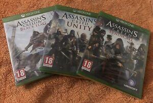 Assassins Creed Bundle: Drapeau Noir, L'unité & Syndicate-tout Neuf & Scellé!!!-afficher Le Titre D'origine