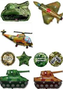 Army-Military-Camo-Camouflage-Balloons-Can-Be-Personalised-Party-Ware-Decoration