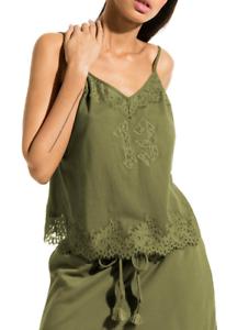 FENTY X PUMA Floral Lace Trim Camisole Grün NWT