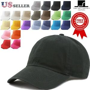 The-Hat-Depot-Plain-Washed-Organic-Cotton-amp-Denim-Low-Profile-Baseball-Cap