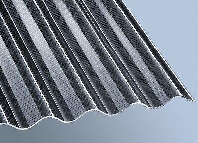 Fürs Dach Trapezbleche & Wellplatten Zielsetzung Acrylglas Wellplatte ähnlich Plexiglas Wellplatte Acryl 76/18 Wabe Graphit Sparen Sie 50-70%