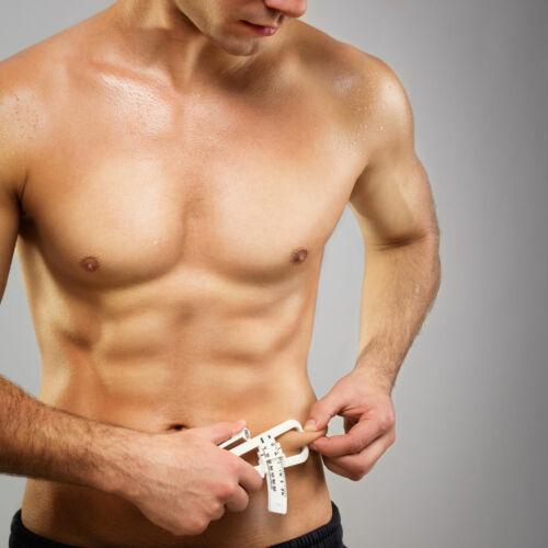 Body Fat Caliper w//Chart Body Mass Measuring Skinfold Tester Fitness Weight Loss