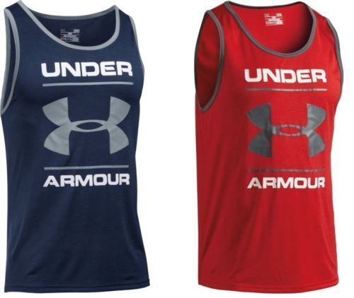 NWT Under Armour Men's UA Tech Graphic Tank Sleeveless HeatGear Top Shirt all sz