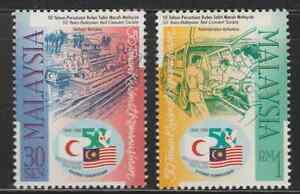 (223)MALAYSIA 1998 MALAYSIA RED CRESCENT SOCIETY SET FRESH MNH