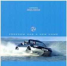 Gibbs Aquada Amphibious Car 2003-04 UK Market Foldout Sales Brochure