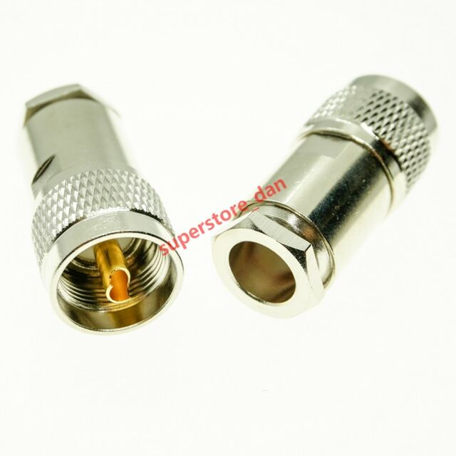 UHF Male PL259 Clamp For RG8 RG165 RG213 LMR400 Cable RF Connector Adapter UE