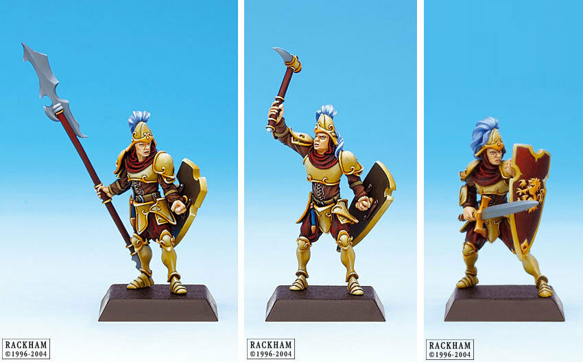 Confrontation Lions of Alahan Guards of Alahan x 3 (Spears & Swords, OOP, New)