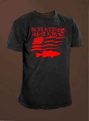 Make America Fish Again Bass Fishing American Flag Angler T-shirt