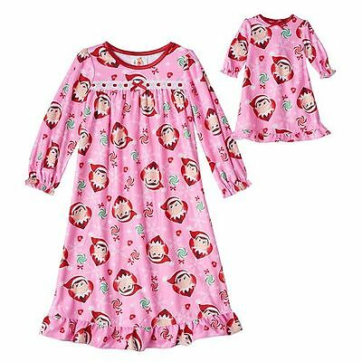 Girl 2T-4T and Doll Matching Elf Christmas Nightgown American Girls Dollie Me