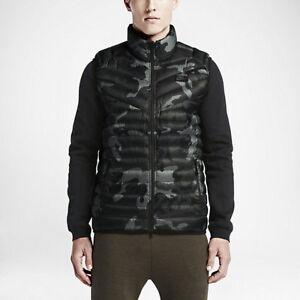 best website 9da76 e8ba8 Details about Nike Guild 550 Men s Down Print Vest Tumbled Grey Deep Pewter  Retail  170