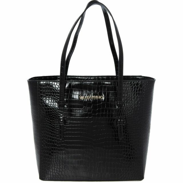 Valentino by Mario Valentino Lambda Reptil Effekt Beuteltasche Tasche, schwarz