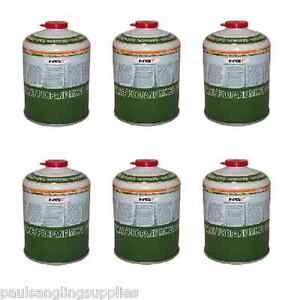 PROPANE GAS 6 X GAS 450g CANISTERS OF BUTANE FISHING HIKING CAMPING