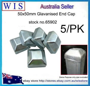 5PK 50mm/2'' Hot Dip Galvanize Steel Post Caps for 50mm x 50mm Gate Steel Posts