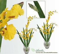 Two 40 Dancing Orchid Artificial Flower Silk Plant Yl