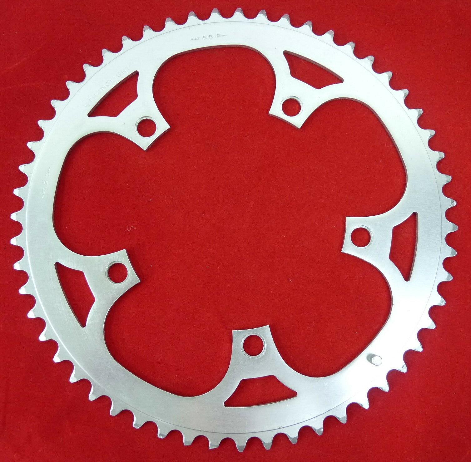 Stronglight Chainring 55T Road 130 Bcd 3 32  Vintage Bicycle 55 Time Trial