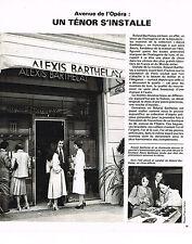 PUBLICITE ADVERTISING 044  1978  Alexis  Barthelay boutique avenue Opéra Paris
