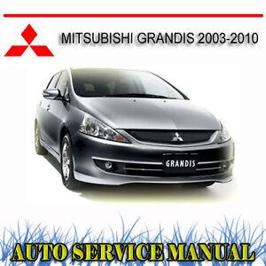 mitsubishi grandis 2003 2010 service repair manual dvd ebay rh ebay com au mitsubishi grandis service manual pdf Mitsubishi Outlander