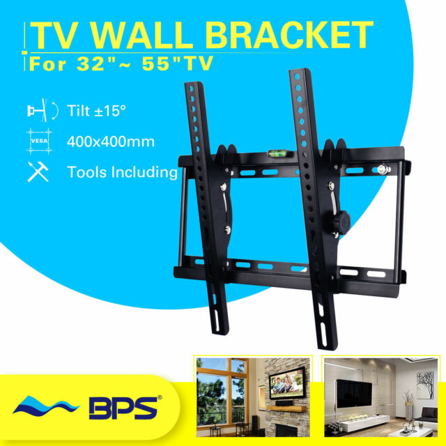 Slim LCD OLED 3D 4K Flat Tilt TV Wall Mount 23 30 32 37 42 46 50 52 55 60 70