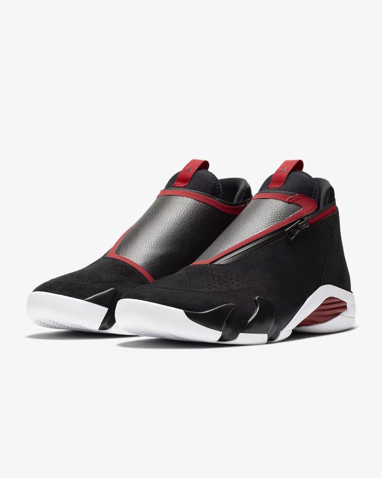 AQ9119-001 Jordan Jumpman Z inspired by Jordan 14 Blk Wht-Gym Red Sizes 8-13 NIB