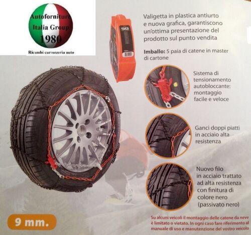 V5117 KIT CATENE DA NEVE PER AUTO 9mm GRUPPO 120 235//60//16 OMOLOGATE TUV CERT