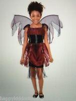 Vampire Fairy Halloween Costume Size 4-6 Small Girls Dress Wings