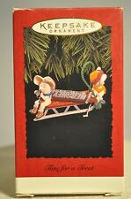 Hallmark - Time For A Treat - 2 Mice Eating Hershey Chocolate - 1996 Ornament