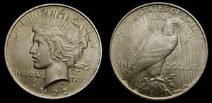 USA-1922-Silver-Peace-Dollar-Mint-State-60