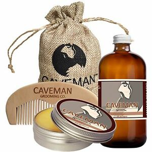 Hand-Crafted-Caveman-Beard-Oil-Conditioner-Beard-Balm-Handmade-Comb-Bay-Rum
