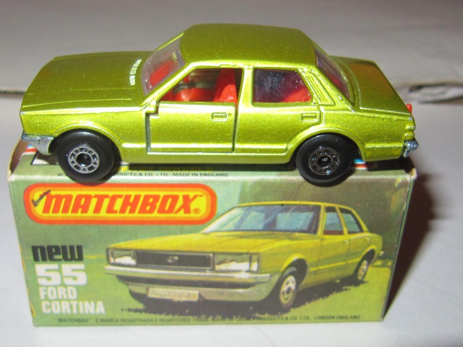 Matchbox Superfast Superfast Superfast No.55 Ford Cortina MIB 48fd08