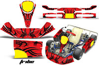 Amr Racing Graphics Kg Kid/kg Baby Kart Sticker Kits Decals Tribe Black Red