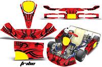 Amr Racing Graphics Kg Kid/kg Baby Kart Sticker Kits Decals Tribe Black Red