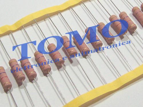 5 pezzi Resistenza metal oxide 5W 5 Watt 470 K ohm MOF5WS-470K