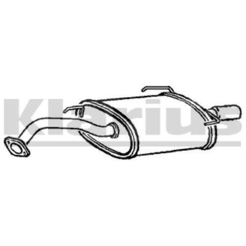 End Silencer Exhaust For NISSAN 1x KLARIUS OE Quality Replacement Rear FORD