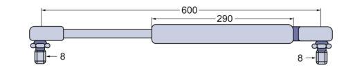 La presión del gas resorte luneta trasera para fritzmeier con variocab-camarote para Deutz DX