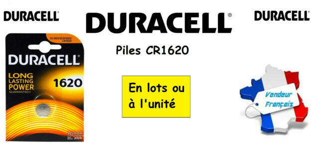 Button Batteries Lithium Duracell CR1620 3V And