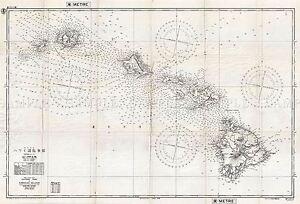MAP-ANTIQUE-1939-MILITARY-JAPANESE-NAVY-HAWAIIAN-ISLANDS-REPLICA-PRINT-PAM2034