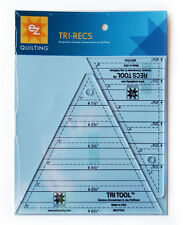 TRI-RECS TOOLS, Wrights EZ Quilting/Zimmerman, 2 Rulers for Triangle Quilting