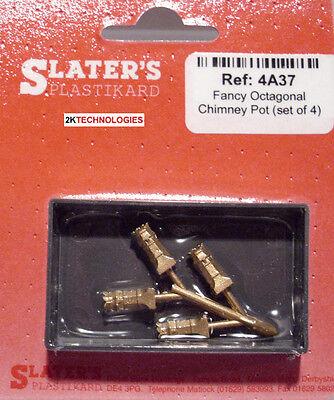 Slaters 4a37 Fantasioso Ottagonale Camino Pot X 4 Ottone Fuso Calibro 00 Buy One Give One Oo Scale