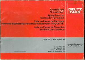 deutz fahr centipede haymaker tedder kh500 kh500dn parts manual rh ebay co uk Deutz-Fahr 6806 4WD Deutz-Fahr Combines