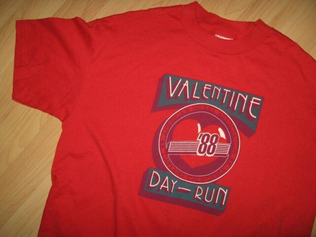 Valentine Day Run Tee - 1988 Oakland California American Heart Assoc T Shirt XL