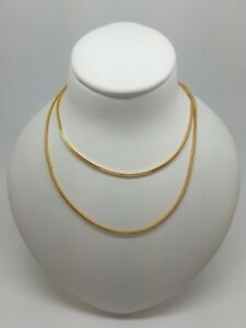 Miran-250688-Sterling-Silver-925-Gold-Plated-Foxtail-Chain-45cm-2-6g-RRP-49