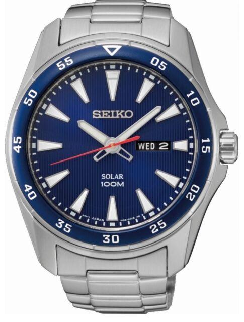 Seiko Gents Solar Powered Watch SNE391P1-NEW