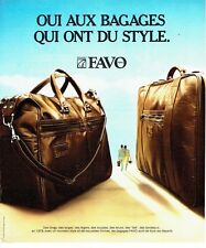 PUBLICITE ADVERTISING 0217  1978   les sacs bagages & valises Favo