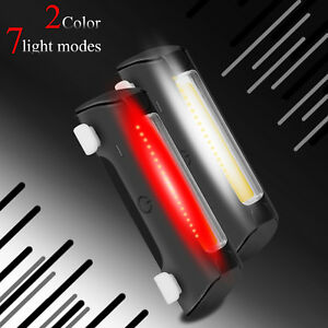 Rechargeable-LED-Bicycle-Tail-Light-Rear-Bike-Headlight-Cycling-Strobe-Warning