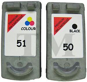 2-regenerados-Cartucho-de-tinta-PG-50-Negro-CL-51-Color-Canon-Pixma-MP160