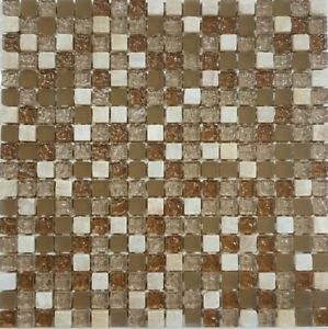 Chicago Stone Gl Mosaic Tile Sheets