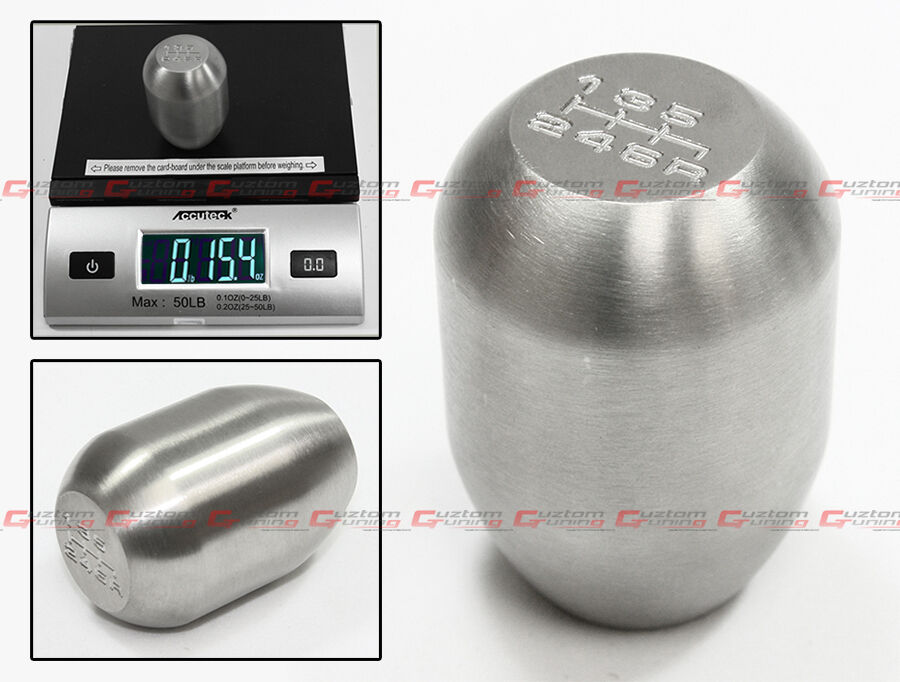 M10 X 1.25 TYPE R HEAVY WEIGHTED 6 SPEED STAINLESS STEEL SHIFT KNOB FOR INFINITI