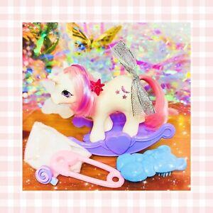 ❤️My Little Pony MLP G1 Vtg 1984 BABY Moondancer Unicorn Rocker Diaper Comb❤️